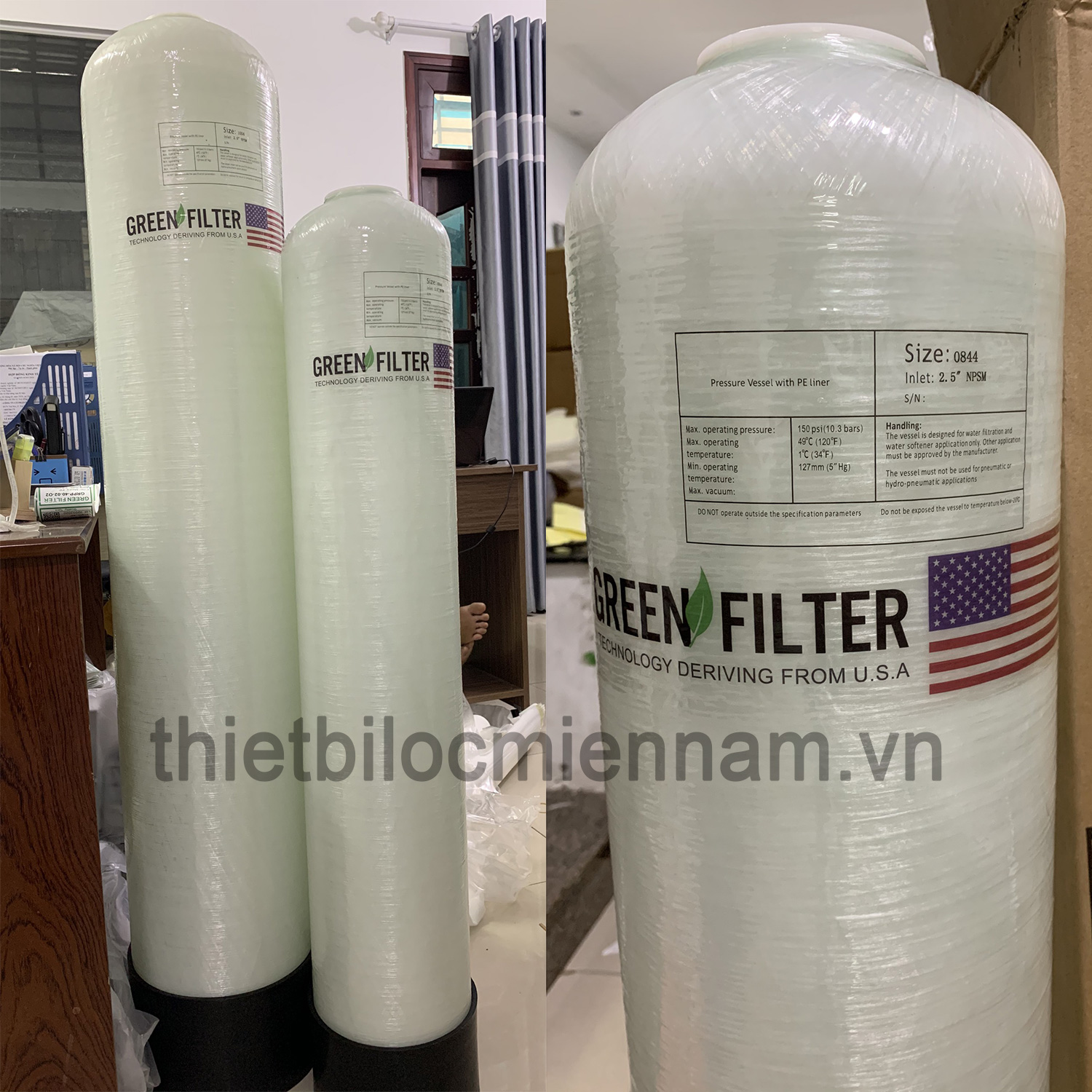 Cột lọc composite Green Filter FRP 818 844 948